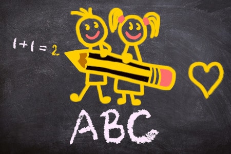 ardoise dessin calcul lettres