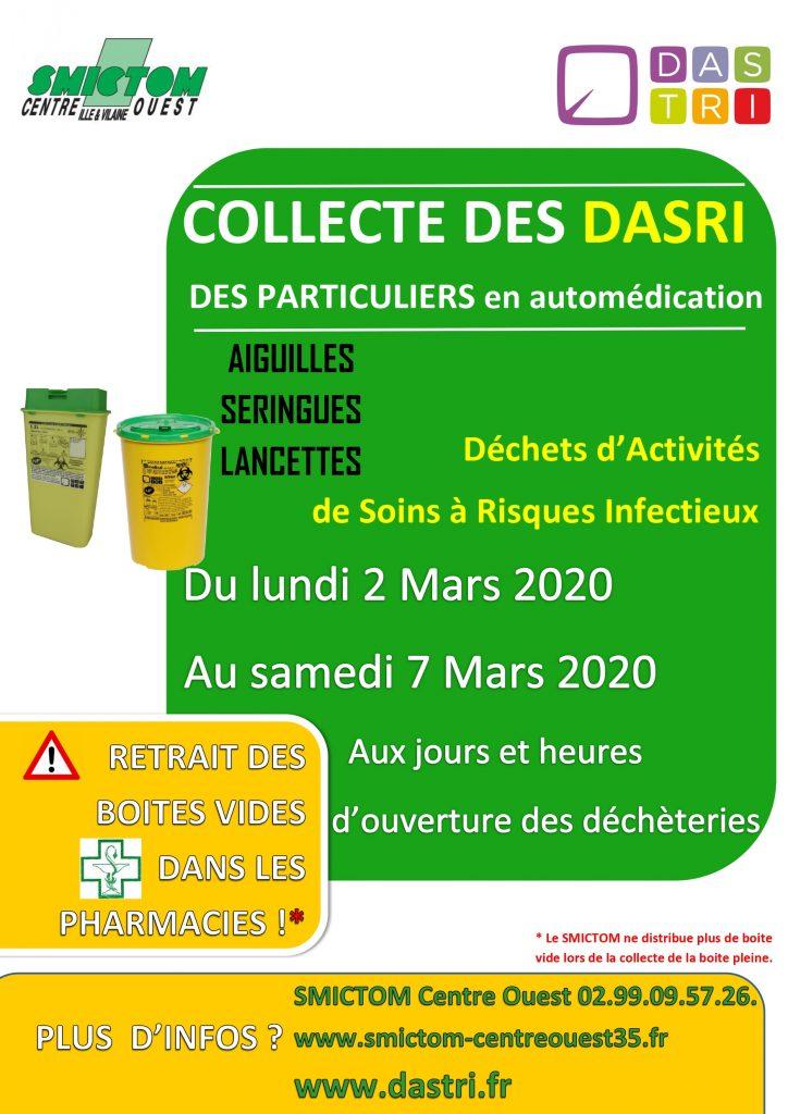affiche collecte des dasri mars 2020