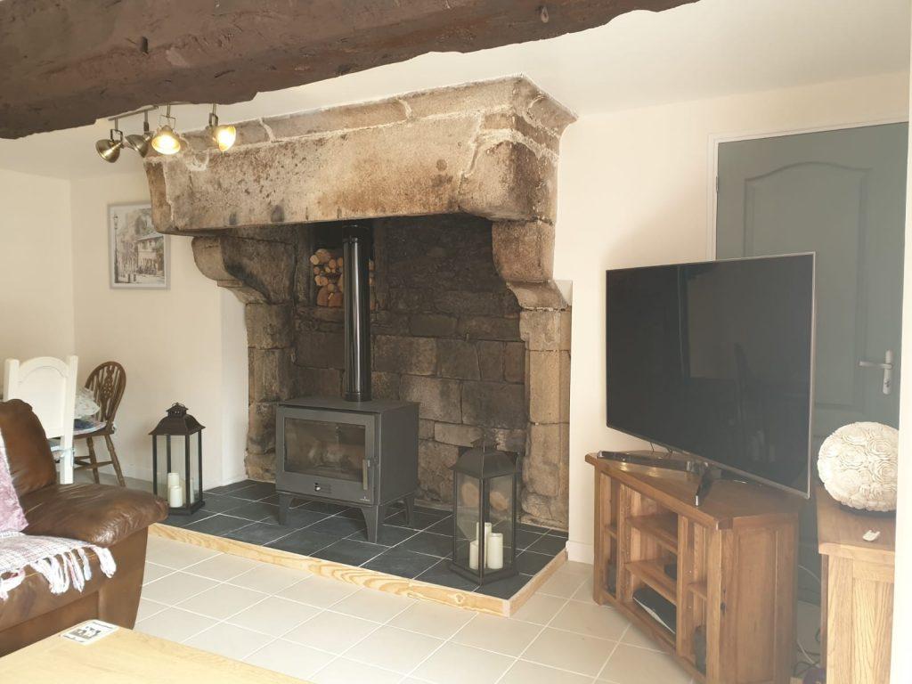 chambre d hotes nicola et nigel woods plumaudan cheminee